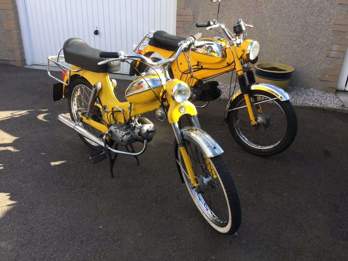 1973 Puch MV50 mopeds X 2 For Sale (picture 1 of 6)