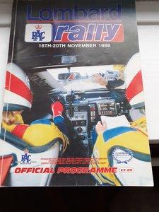 RAC Rally Programme