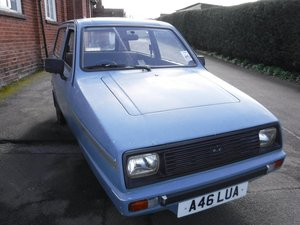 **MARCH AUCTION**1983 Reliant Rialto GLS SOLD by Auction