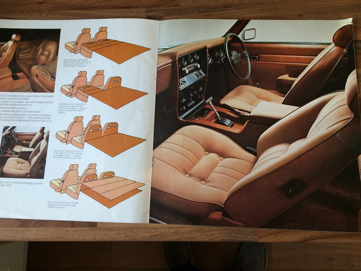 Reliant Scimitar brochure and spec sheet. For Sale (picture 4 of 6)