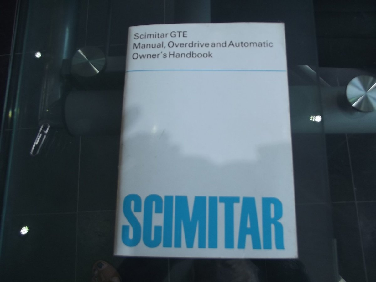 0000 RELIANT SCIMITAR WORKSHOP MANUAL AND OWNERS HANDBOOKS 4 SALE For Sale (picture 2 of 4)