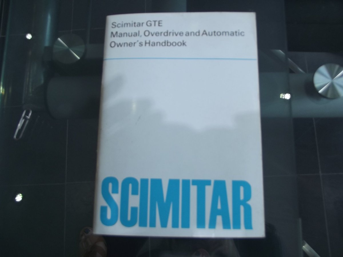 0000 RELIANT SCIMITAR WORKSHOP MANUAL AND OWNERS HANDBOOKS 4 SALE For Sale (picture 4 of 4)