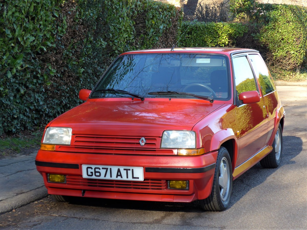 1989 Renault 5 GT Turbo - A Remarkable 27,000 Mile Car For Sale (picture 1 of 6)