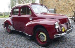 1953 Renault 4 CV DECOUVRABLE usine convertible For Sale