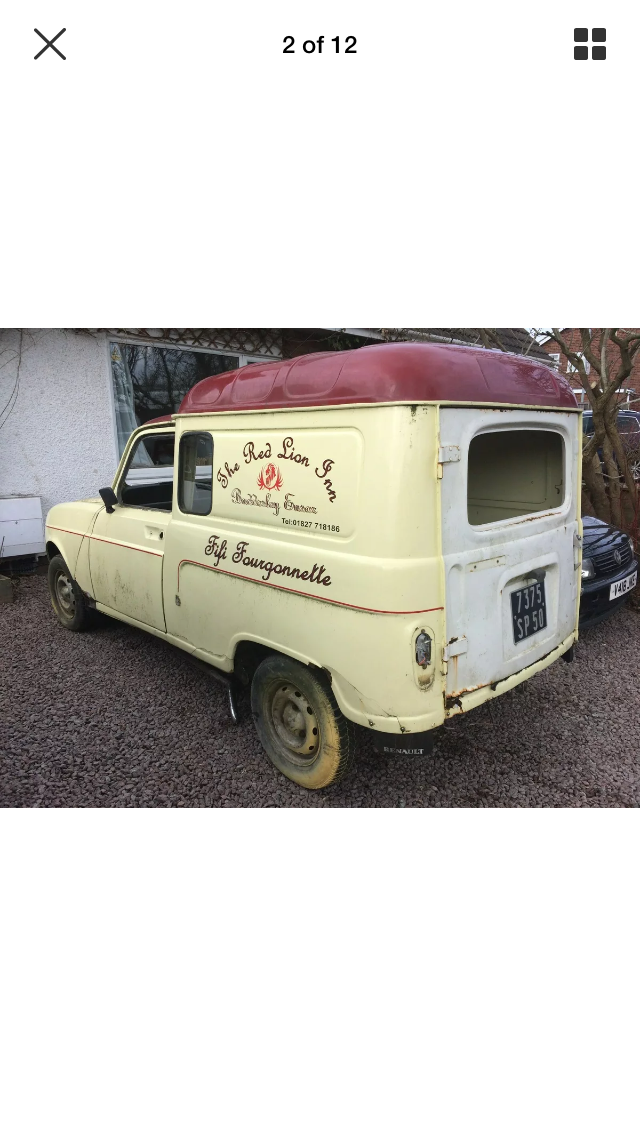 1980 Renault 4 Van Trailer Project For Sale (picture 4 of 6)