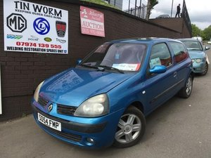 2004 Renault Clio 1.2 manual, blue 3 door hatchback SOLD