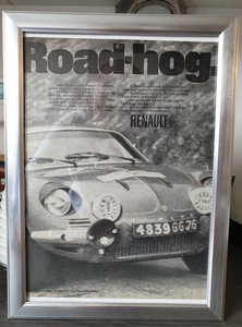 1968 Original  Alpine Renault advert