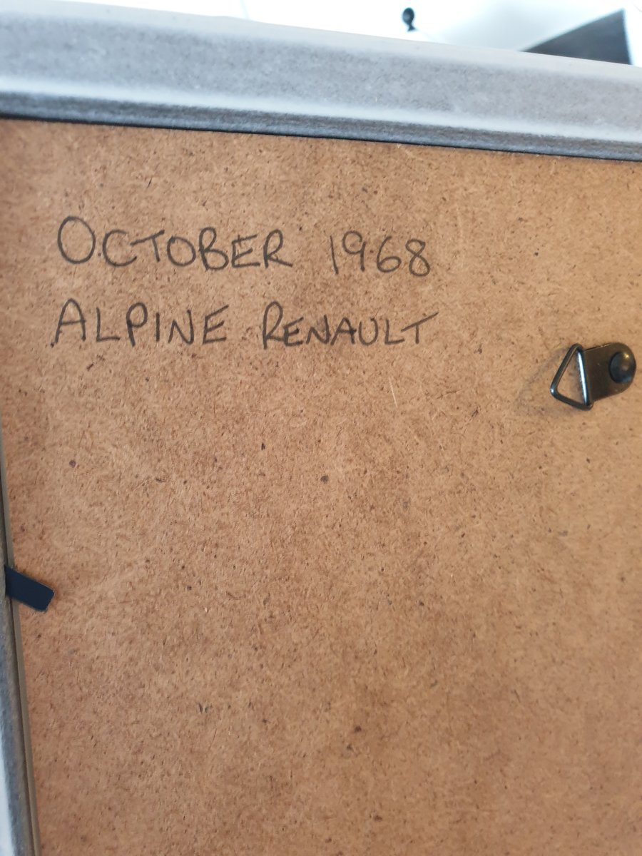 Original 1968 Alpine Renault advert For Sale (picture 2 of 2)