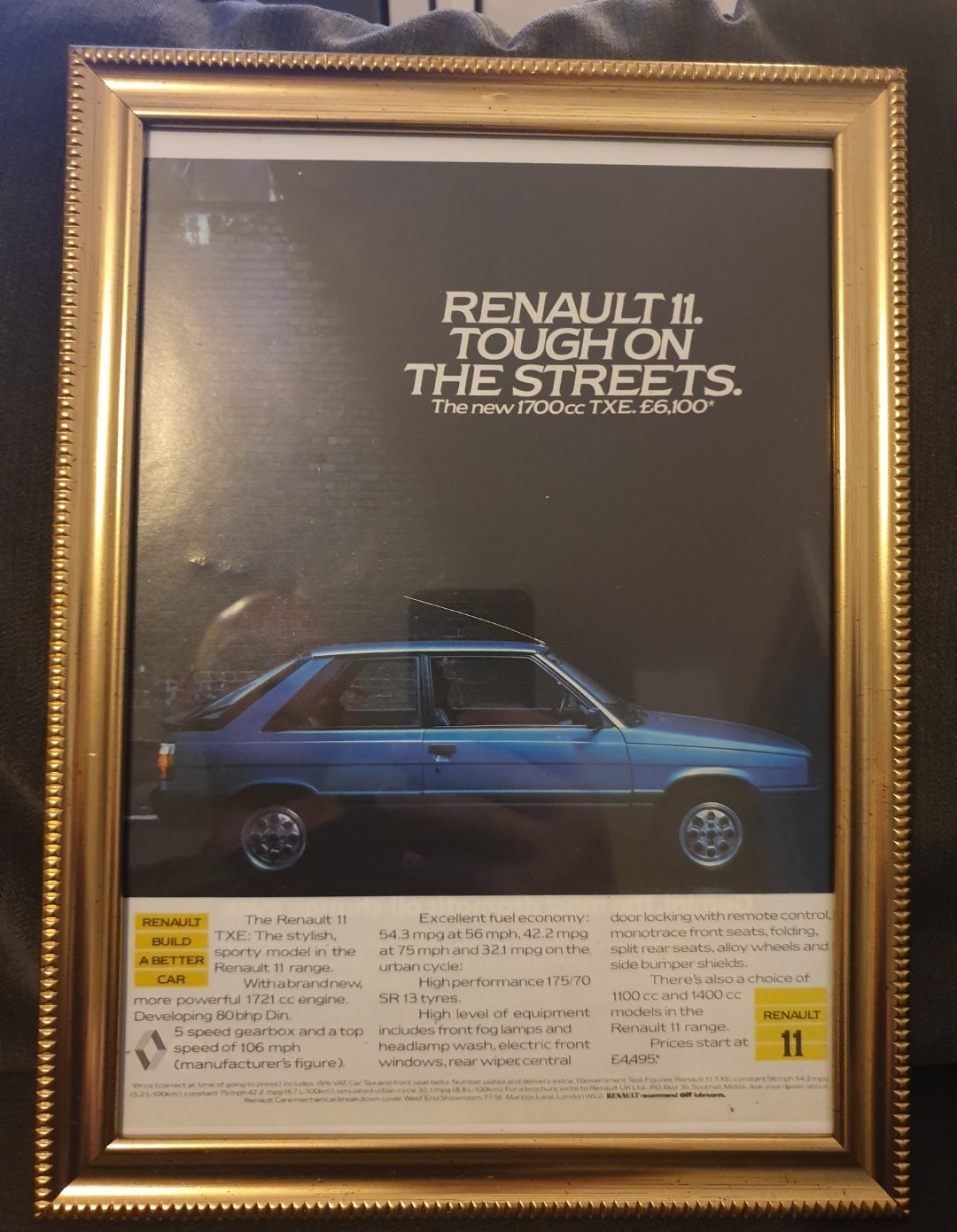1984 Original Renault 11 advert For Sale (picture 1 of 2)
