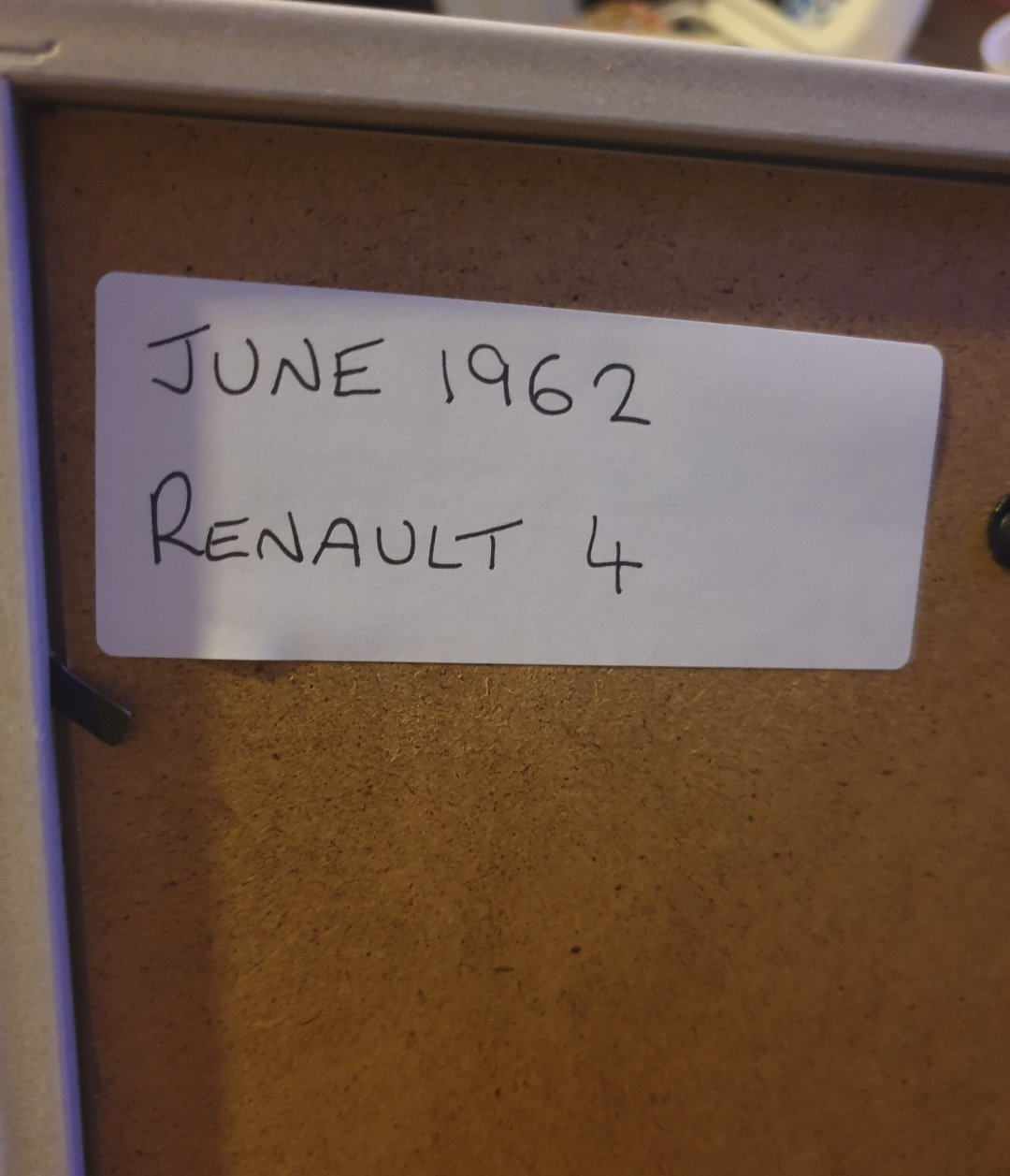 Original 1962 Renault 4 Advert For Sale (picture 2 of 2)