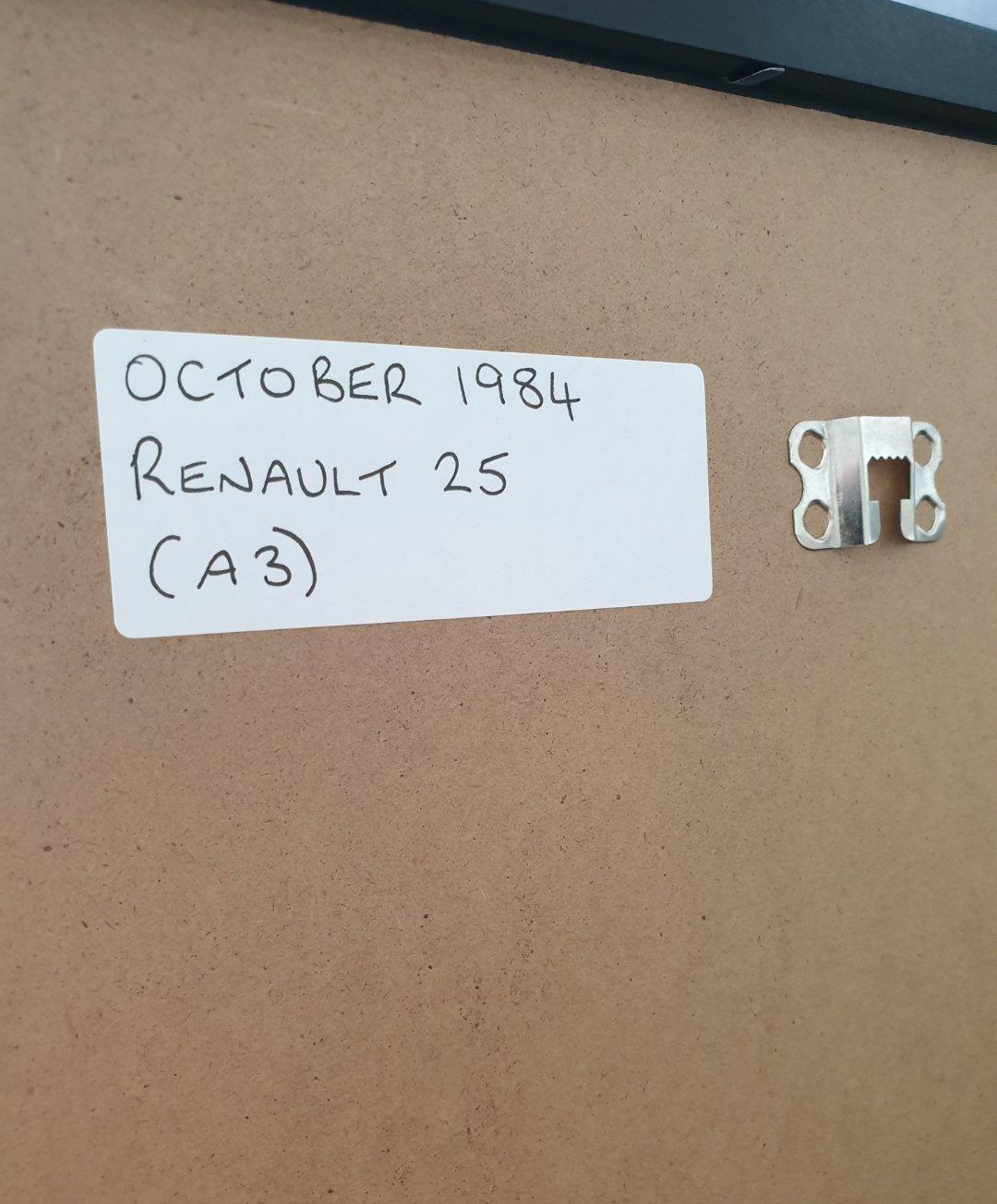 1984 Renault 25 Framed Advert Original  For Sale (picture 2 of 2)