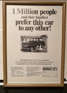 1966 Original Renault 4 Framed Advert