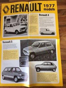 1977 Renault Model year literature