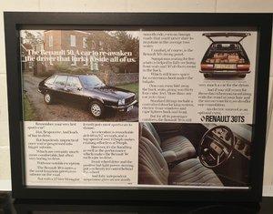 1977 Renault 30TS Framed Advert Original