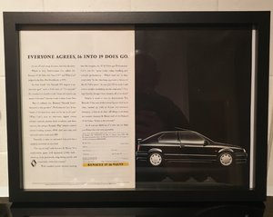 Renault 19 Framed Advert Original
