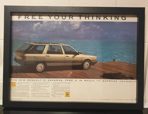 1987 Renault 21 Savanna Advert Original