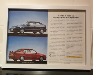 Picture of 1992 Renault 19 Framed Advert Original