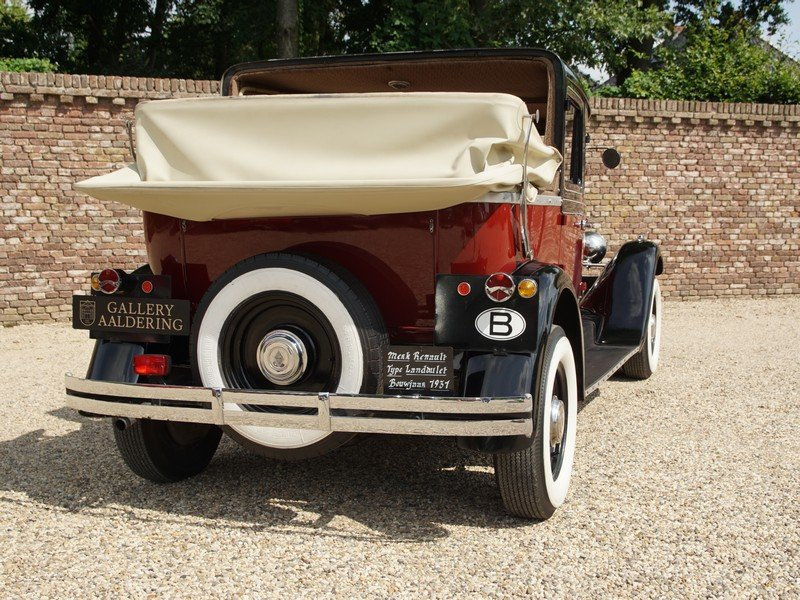 1931 Renault KZ Landaulette unique six seater, Pre-War For Sale (picture 6 of 6)