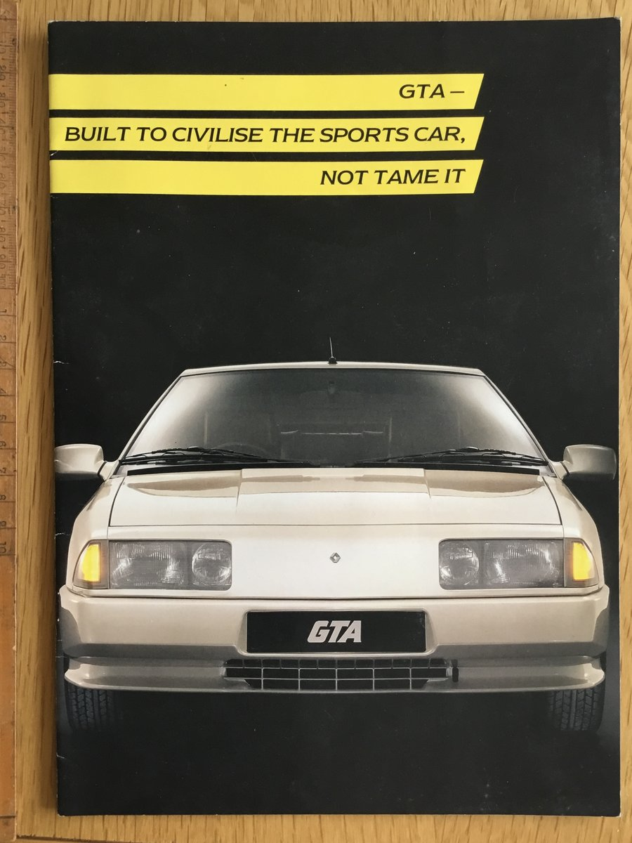 1990 Renault alpine  gta brochure For Sale (picture 1 of 1)