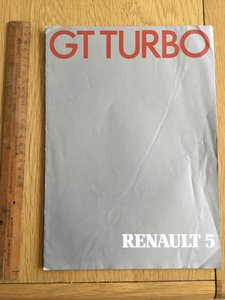 1986 Renault 5 GT turbo brochure