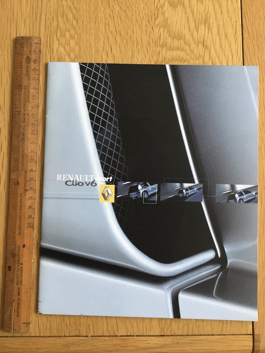 2001 Renault Clio V6 sport brochure For Sale (picture 1 of 1)