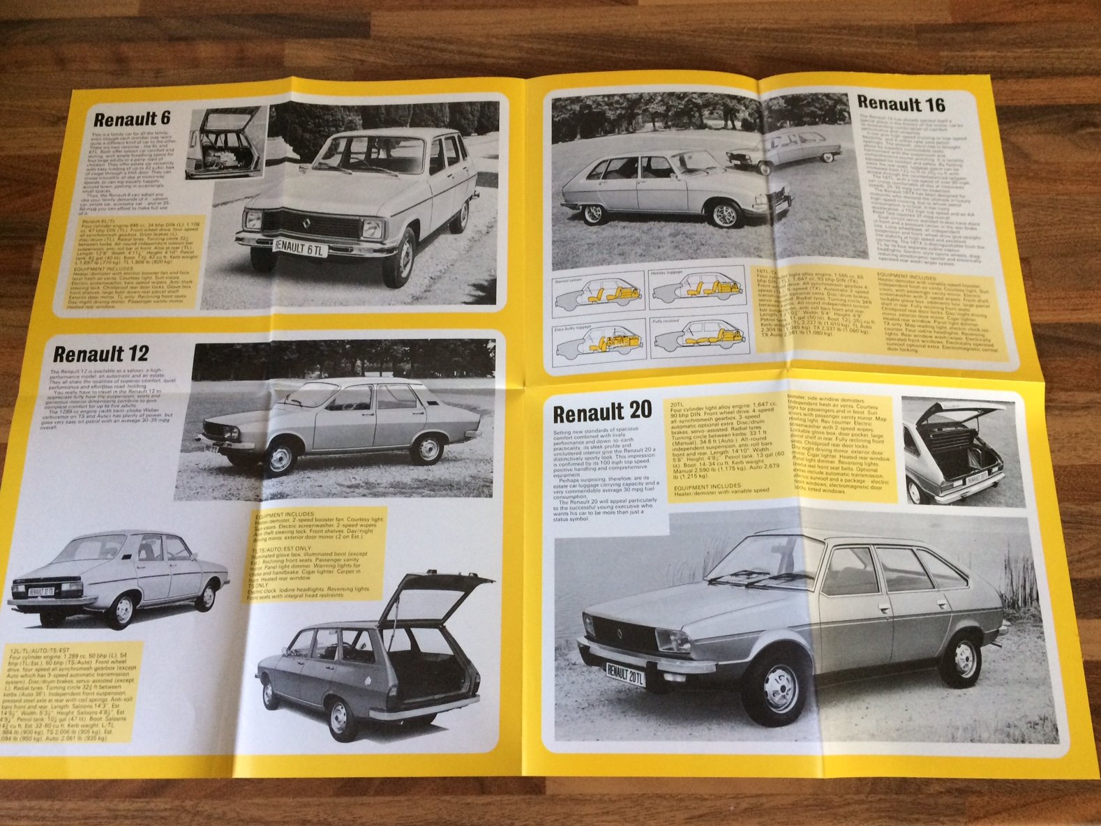1977 Renault fold-out pamphlet For Sale (picture 2 of 3)