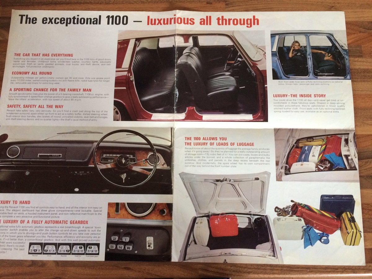 Renault 1100 R10 sales pamphlet For Sale (picture 2 of 3)