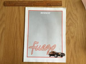 1984 Reanault Fuego brochure For Sale