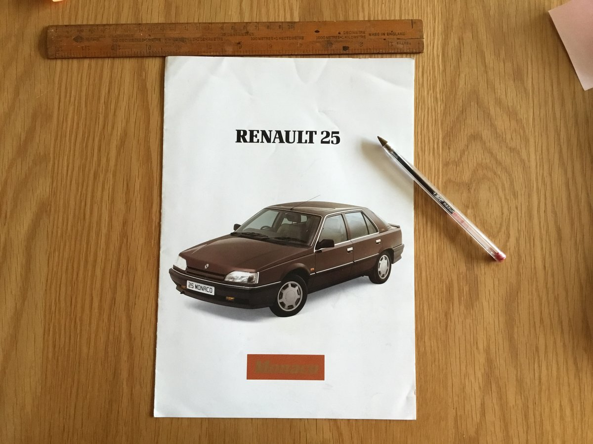 1987 Reanault 25 Monaco brochure For Sale (picture 1 of 1)