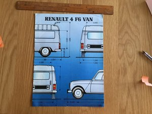 1985 Renault 4 f6 van brochure  For Sale