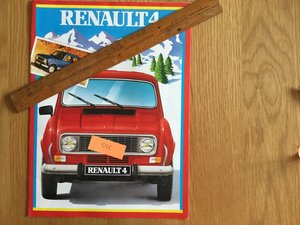 1984 Renault 4 brochure For Sale