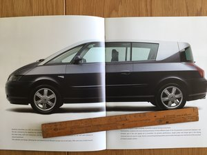 2001 Renault Avantime brochure  SOLD