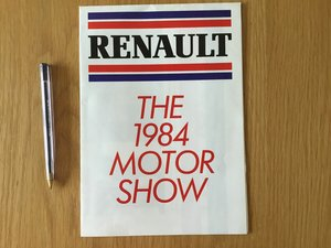 Renault the 1984 motor show model lineup brochure  For Sale