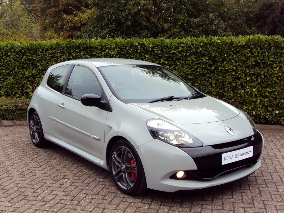 2011 RARE STORM GREY RS CLIO 200 - 1 OWNER - LOW MILEAGE - FMDSH For Sale (picture 1 of 6)