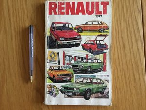 Renault model range 1977 booklet For Sale