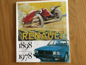 Renault 1898-1978 brochure For Sale