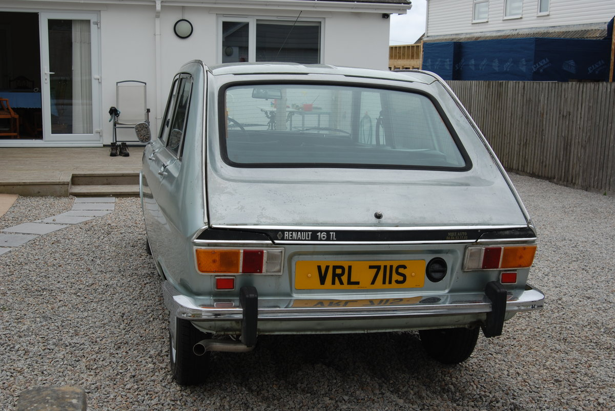1977 Renault 16 TL. 1565cc. LHD Manual For Sale (picture 2 of 6)