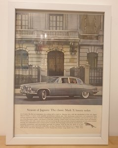 Original 1962 Jaguar Mark 10 Framed Advert
