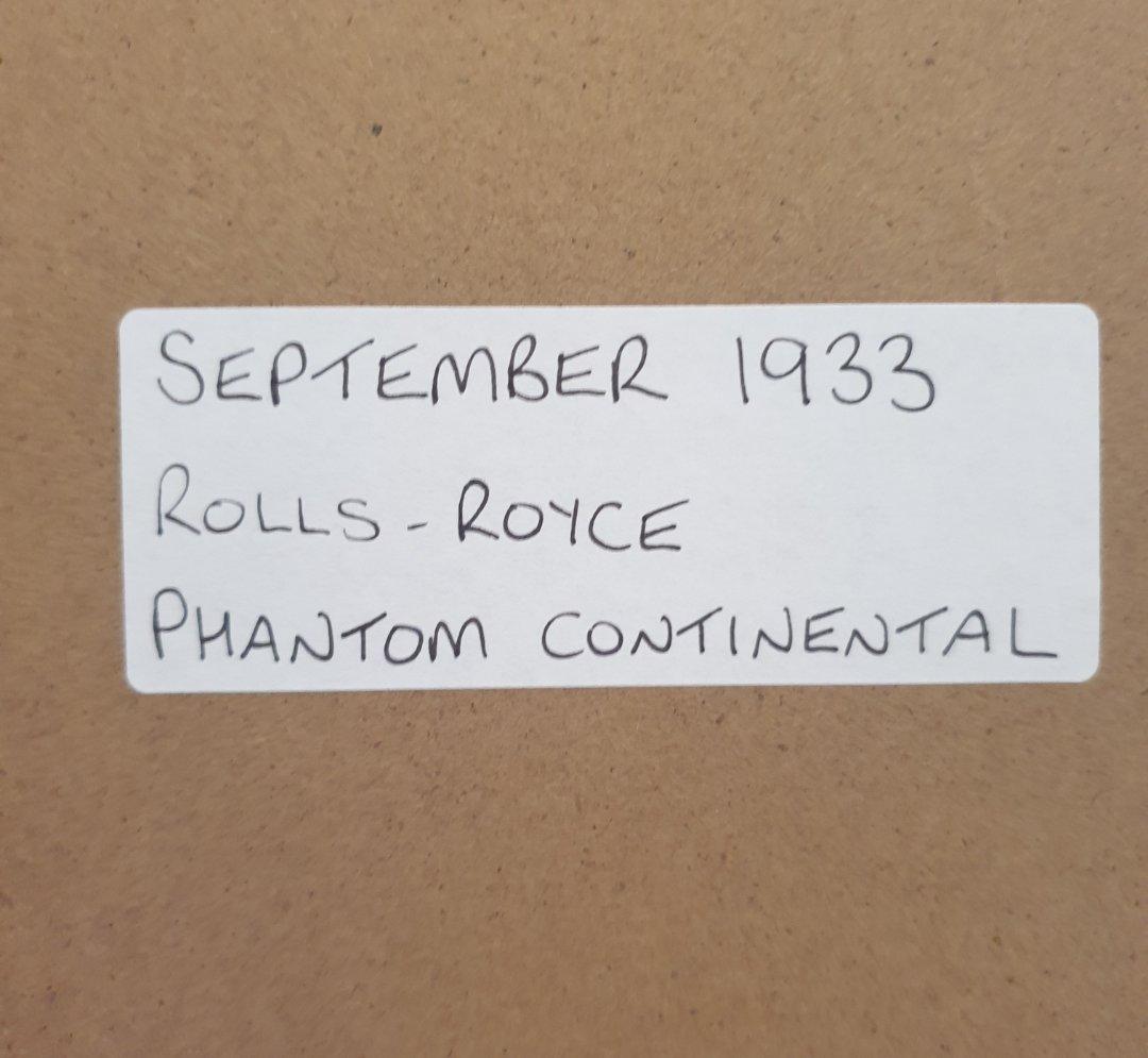 1966 Original 1933 Rolls-Royce Framed Advert  For Sale (picture 2 of 3)
