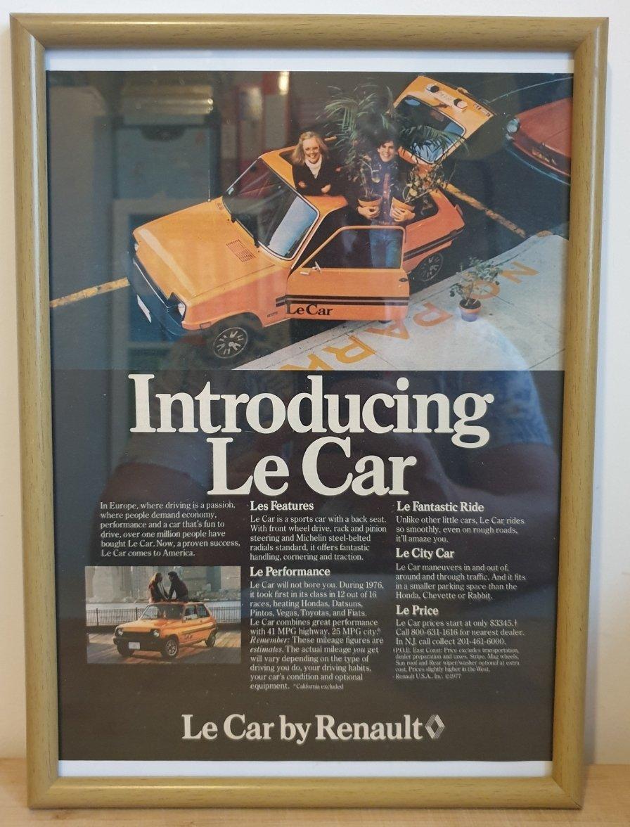 1984 Original 1977 Renault 5 Framed Advert  For Sale (picture 1 of 3)