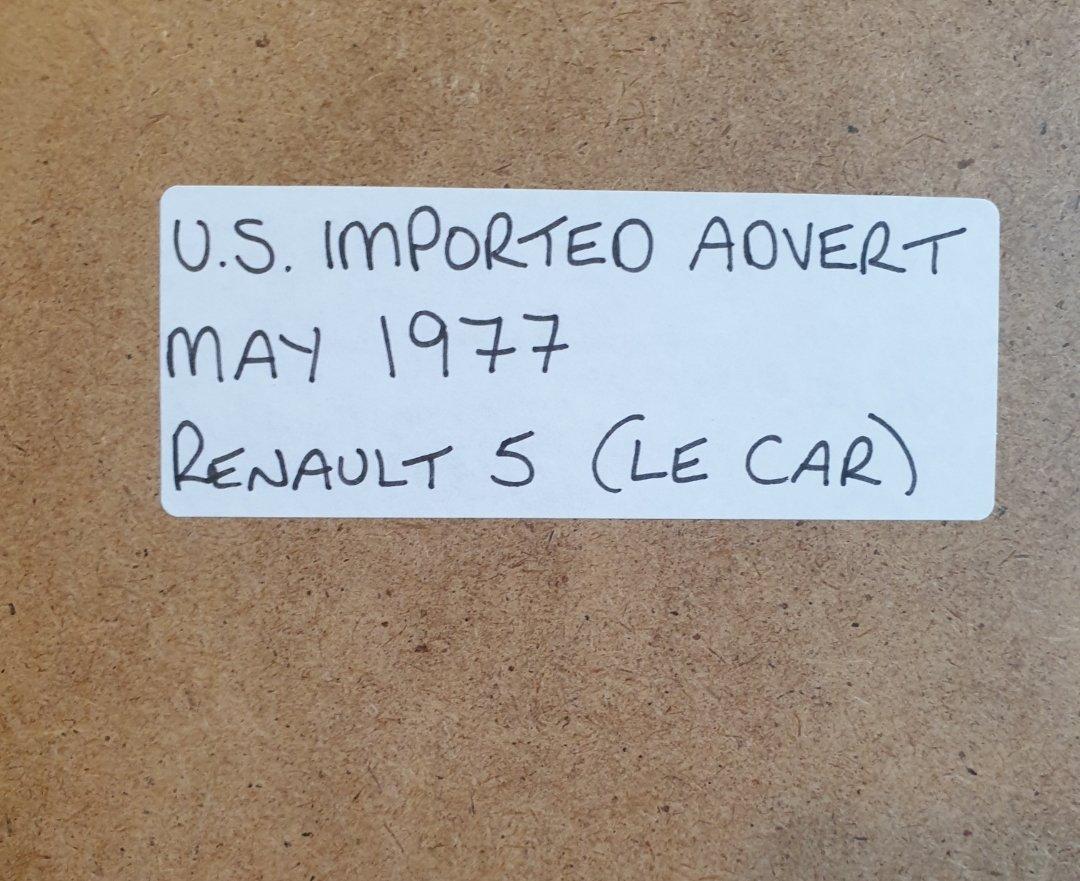 1984 Original 1977 Renault 5 Framed Advert  For Sale (picture 2 of 3)