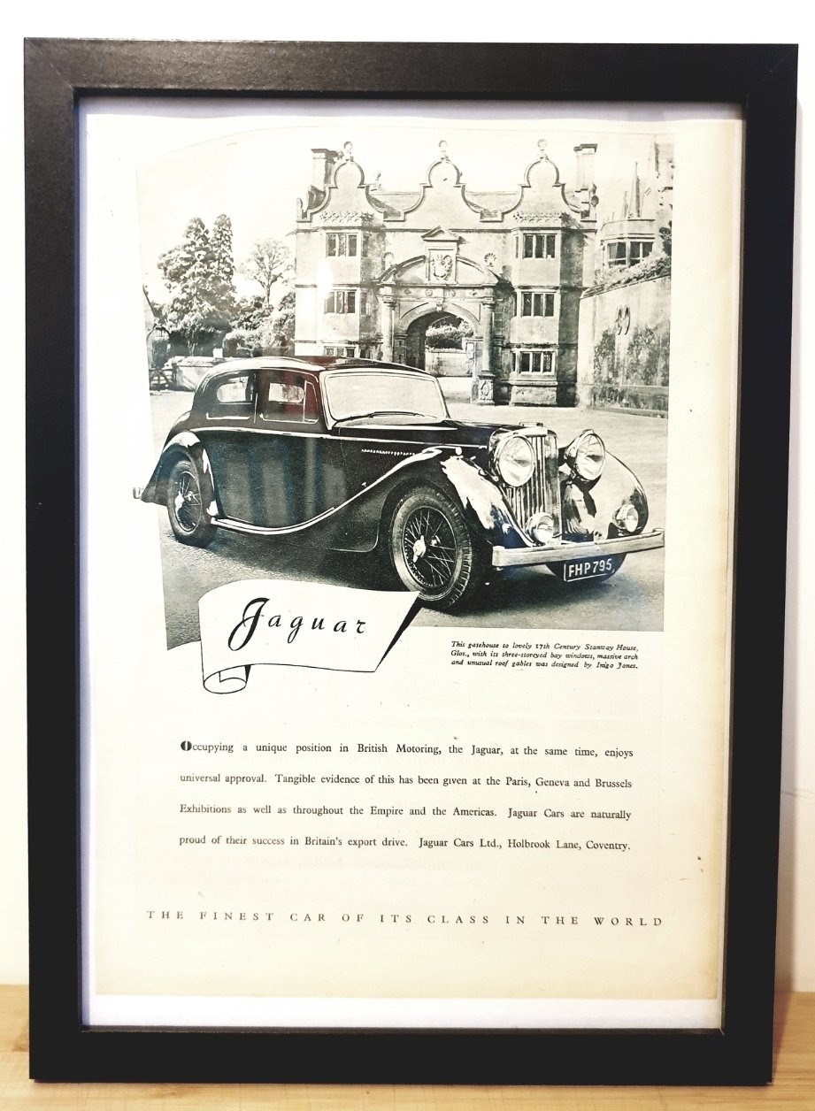 Picture of 1974 Original 1948 Jaguar MK4 Framed Advert For Sale