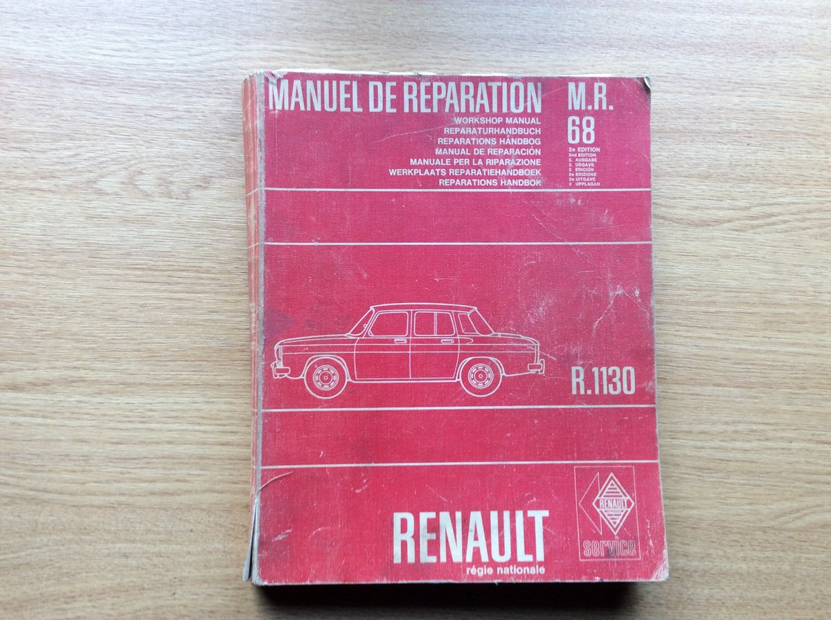 Workshop Manual for Renault 8 (R.1130) For Sale (picture 1 of 7)