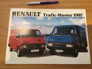 Picture of 1987 Renault trafic and master brochure For Sale