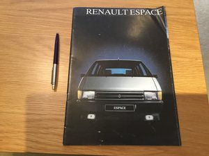 Picture of Renault Espace brochure 1985 For Sale