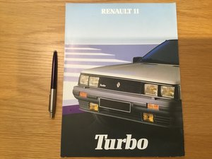 Picture of 1984 Renault 11 turbo brochure For Sale