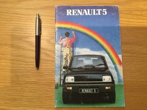 Picture of 1982 Renault 5 Brochure/booklet SOLD