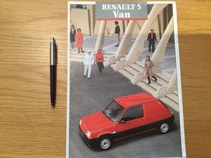 Picture of 1987 Renault 5 Van brochure SOLD
