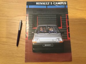 Picture of 1990 Renault 5 Campus brochure SOLD