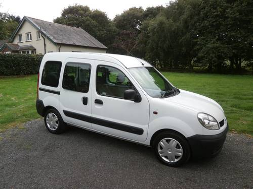 2004 '54' RENAULT KANGOO 1.2 MOBILITY WHITE JUST 8,128 MILES SOLD (picture 1 of 6)